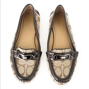 COACH Fortunata Canvas Loafers